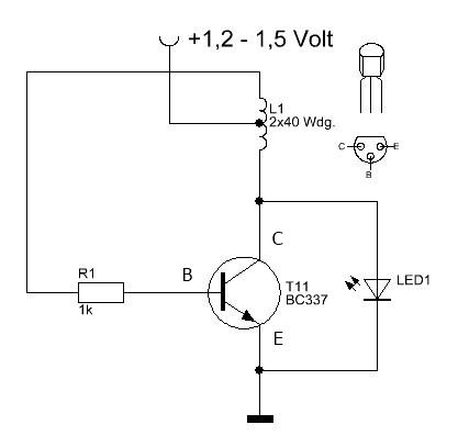 Schaltbild der LED-Schaltung