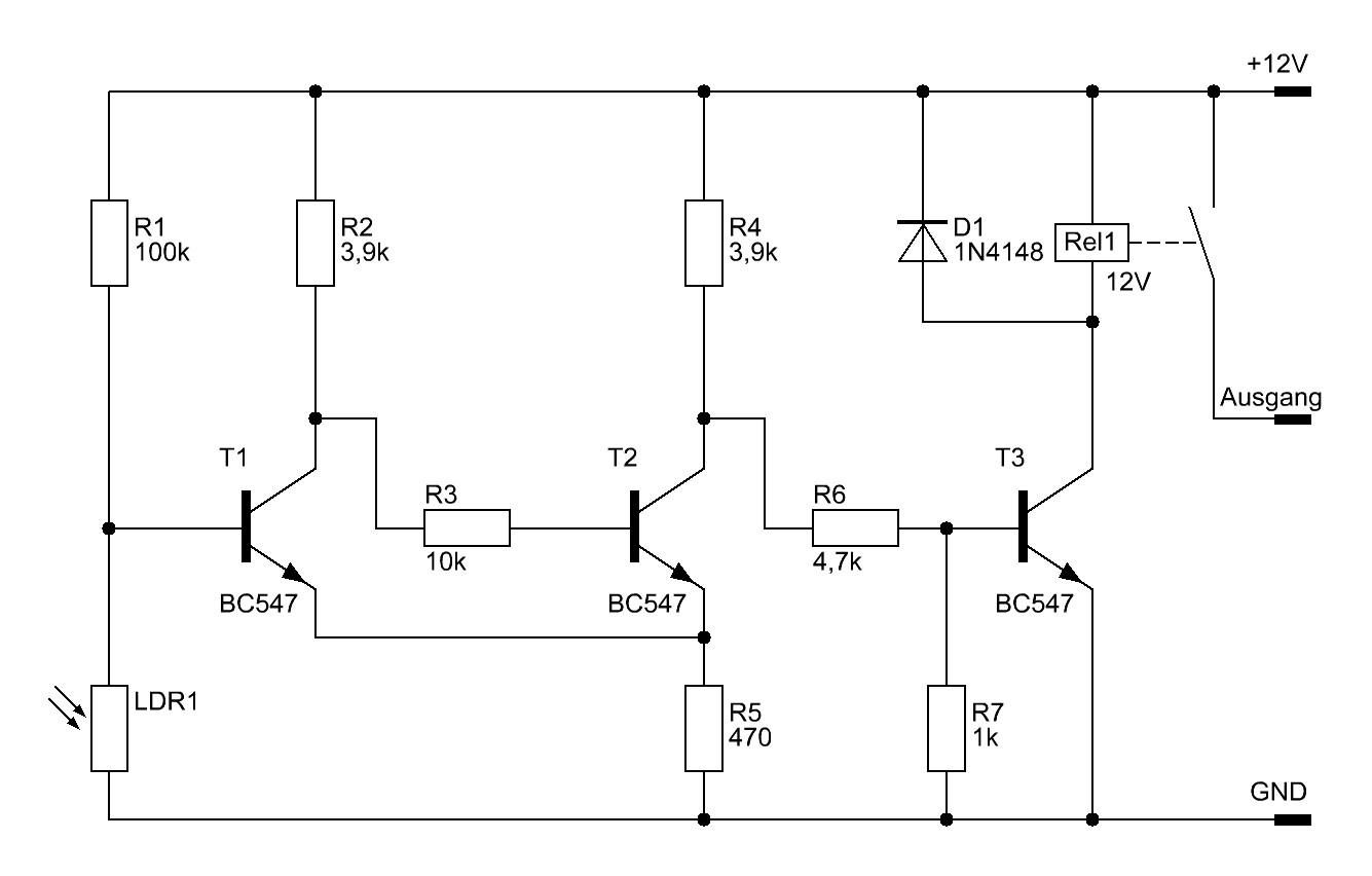 Einfacher Dämmerungsschalter - Elektronische Basteleien
