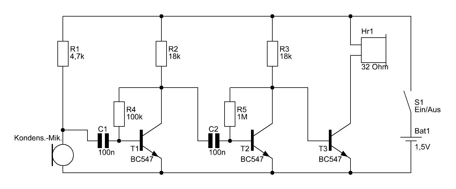 einfacher mikrofonverst u00e4rker f u00fcr 1 5 volt