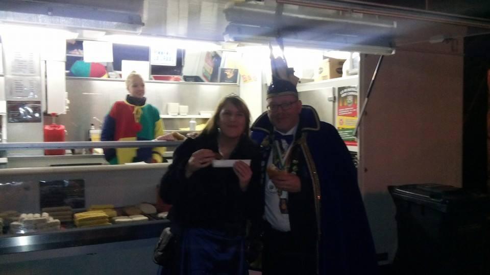 Prins Johan van Elten uit Brabant was ook van de partij in Loo #gekostumeerdbal 07-02-2015
