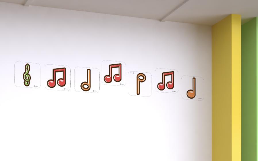 Notas musicales en formato Carta