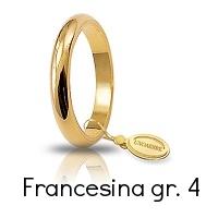 Fede Nuziale Unoaerre Classica Oro Giallo 4 Grammi mm 3 Francesina Referenza: 40 AFN4