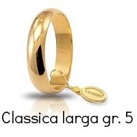 Fede Nuziale Unoaerre Classica Oro Giallo 5 GR 4,6 mm Referenza: 50 AFN6