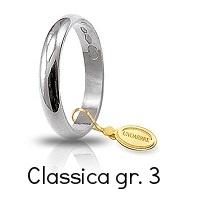 Fede Nuziale Unoaerre Classica Oro Bianco Grammi 3 Referenza: 30AFN1B