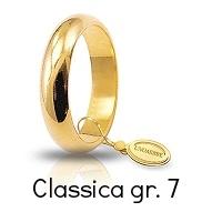 Fedi Nuziali Unoaerre Classica Oro Giallo Grammi 7 mm 4,6 Referenza: 70AFN1