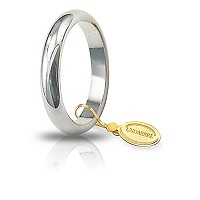 Fede Unoaerre Classica oro bianco 5 grammi mm 3,6 Referenza:  50AFN1