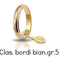 Fede Nuziale Unoaerre Classica bordi rodiati grammi 5 Referenza: 50 AFN1/01