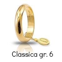 Fedi Nuziali Unoaerre Classica Oro Giallo 6 Grammi Referenza: 60AFN1G