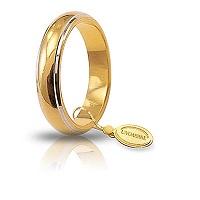 Fede Unoaerre Classica bordi rodiati gr 7,0 Oro giallo e oro bianco 4,5 mm 70 AFN 1/01