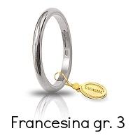 Fedi Nuziali Unoaerre Classica Francesina Oro Bianco Grammi 3 Referenza: 30AFN4B