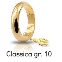 Fedi Nuziali Unoaerre Classica Oro Giallo 10 Grammi Referenza : 100AFN1