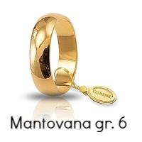 Fede Nuziale Unoaerre Mantovana Oro Giallo 6 grammi