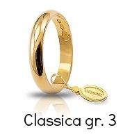Fedi Nuziali Unoaerre Classica Oro Giallo 3 Grammi Referenza: 30AFN1G