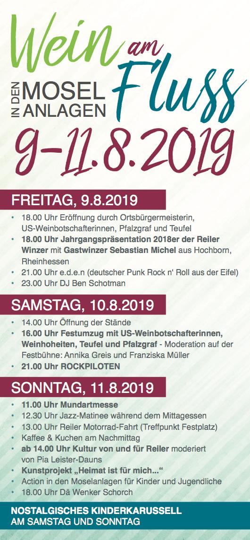 Programm Weinfest 2019