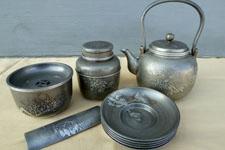 錫製 湯沸 茶筒 建水 茶托 茶合