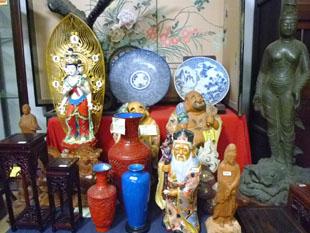 仏像 堆朱 花台 九谷 皿