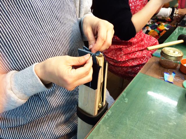ペンケース 手縫い レザー