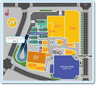 ベルヒル北野田 2F フロアマップ