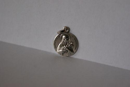 Médaille métal argenté, Ste Thérèse.