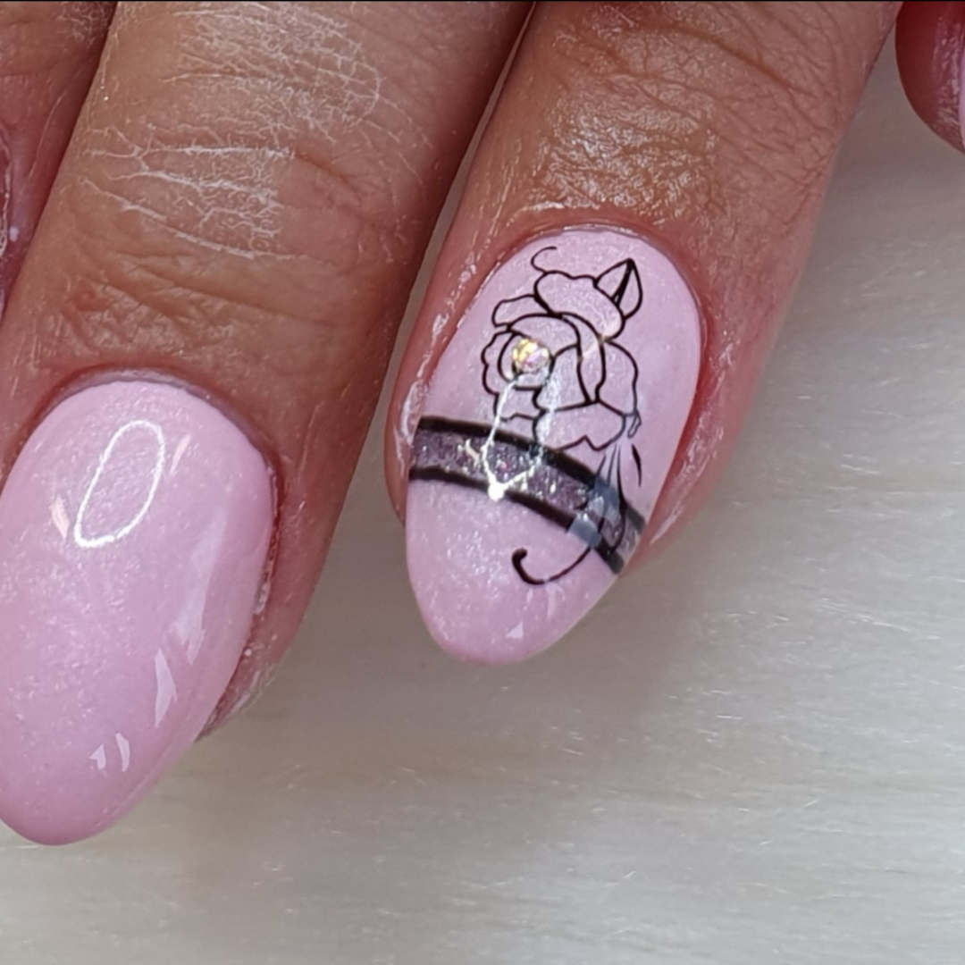 Sticker mit Nailart