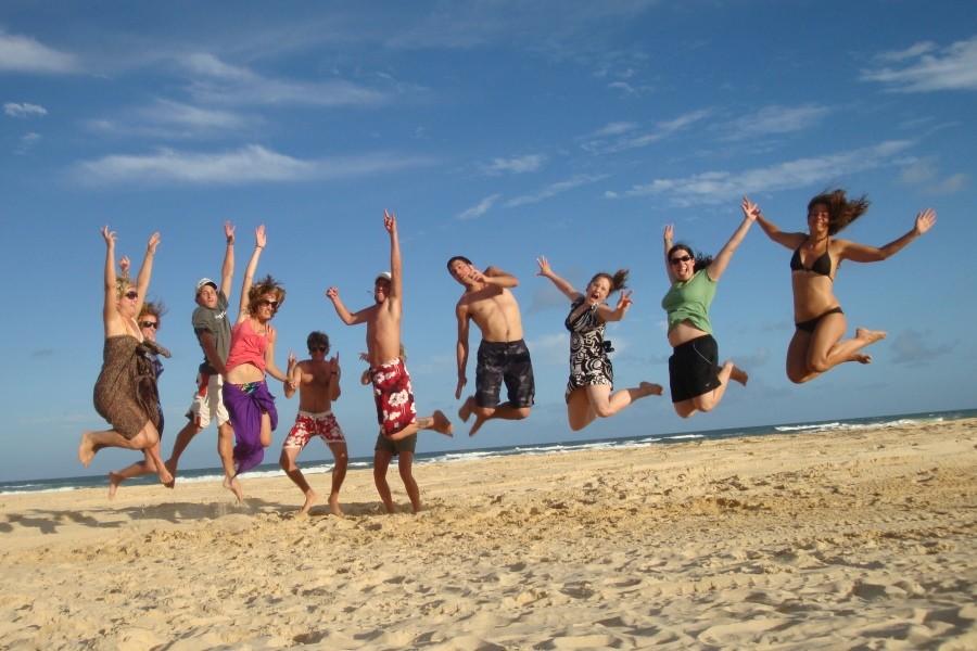 レクシス・イングリッシュ(ヌーサ校) 放課後にはヌーサービーチで泳ぐことも出来ます