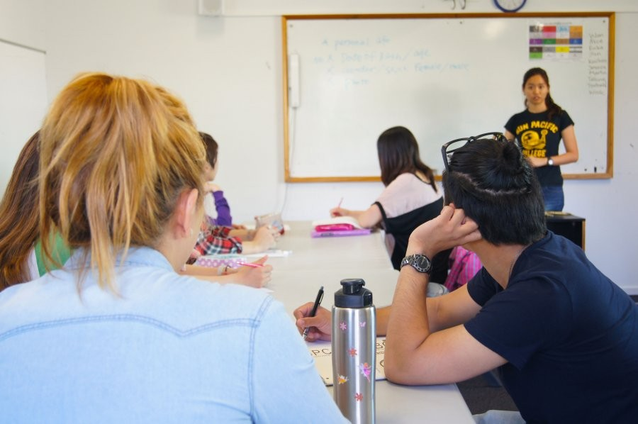 サン・パシフィック・カレッジ 授業風景 もちろん少人数制です