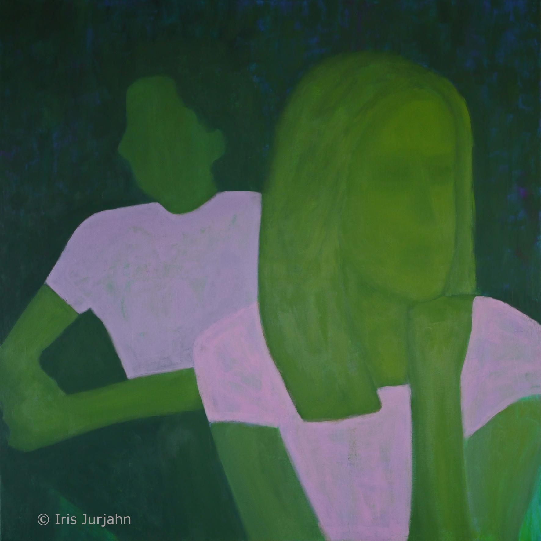 EinsamZweisam, acrylic on canvas, 100 x 100 cm, 2020