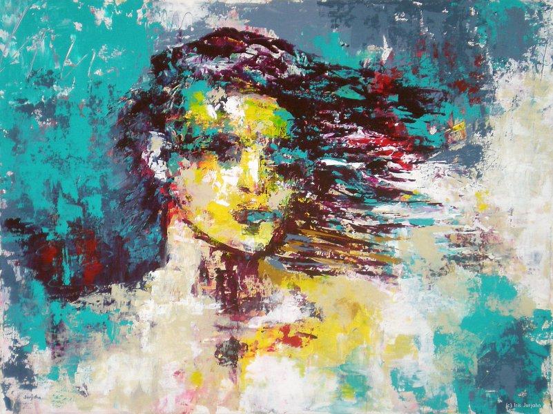 Waiting, acrylic on canvas, 50 x 70 cm, 2012, sold / verkauft