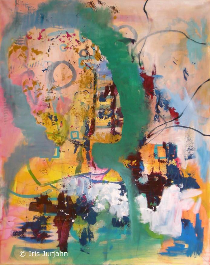 My dear lady, acrylic on canvas, 100 x 80 cm, 2012