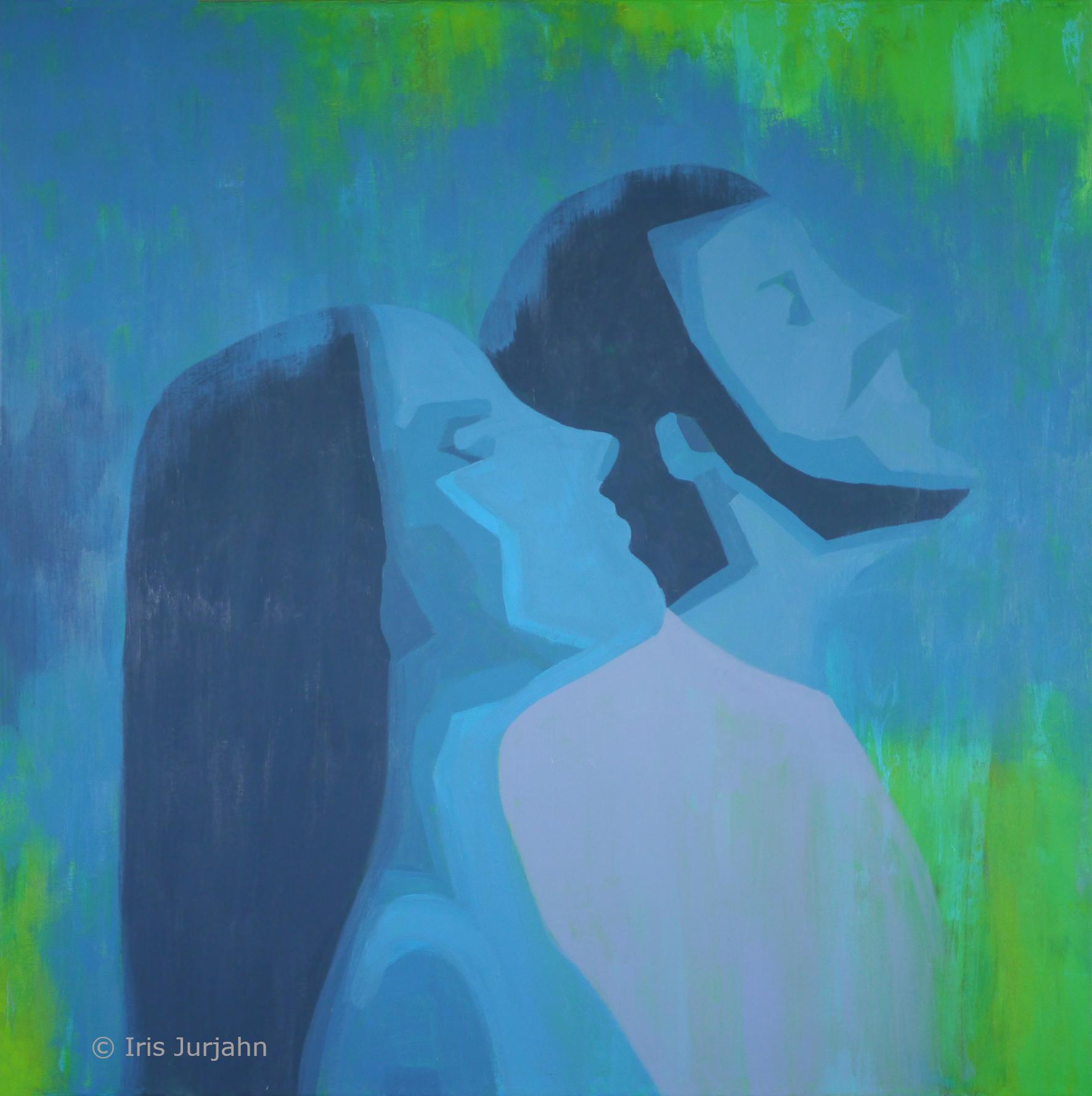 Richtungsgleich, acrylic on canvas, 80 x 80 cm, 2020