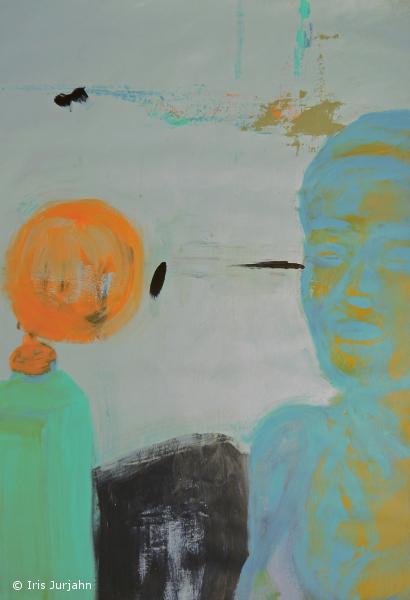 Das Zusammenspiel, acrylic on paper, 2018