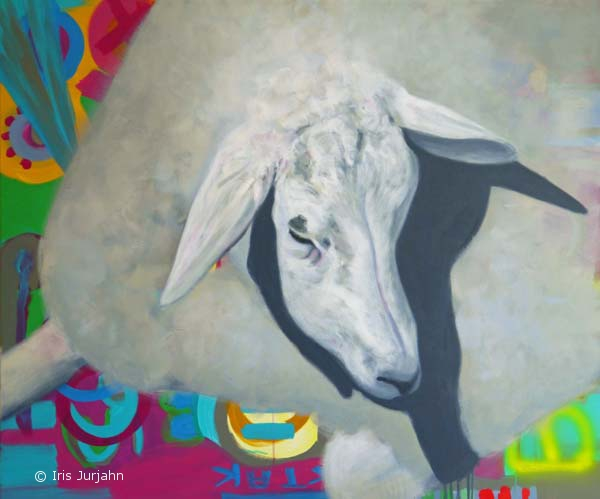 Pop Sheep Andy, acrylic on canvas, 100 x 120 cm, 2015