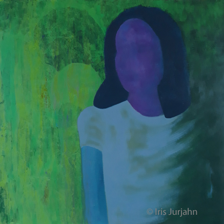 Im Schatten, acrylic on canvas, 80 x 80 cm, 2020