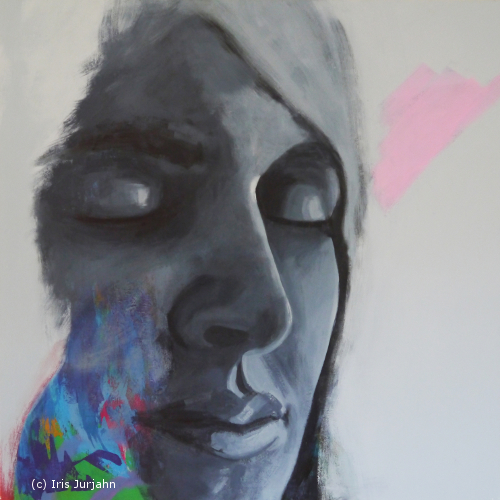 Gedanken am Morgen, acrylic on canvas, 100 x 100 cm, 2014, sold / verkauft