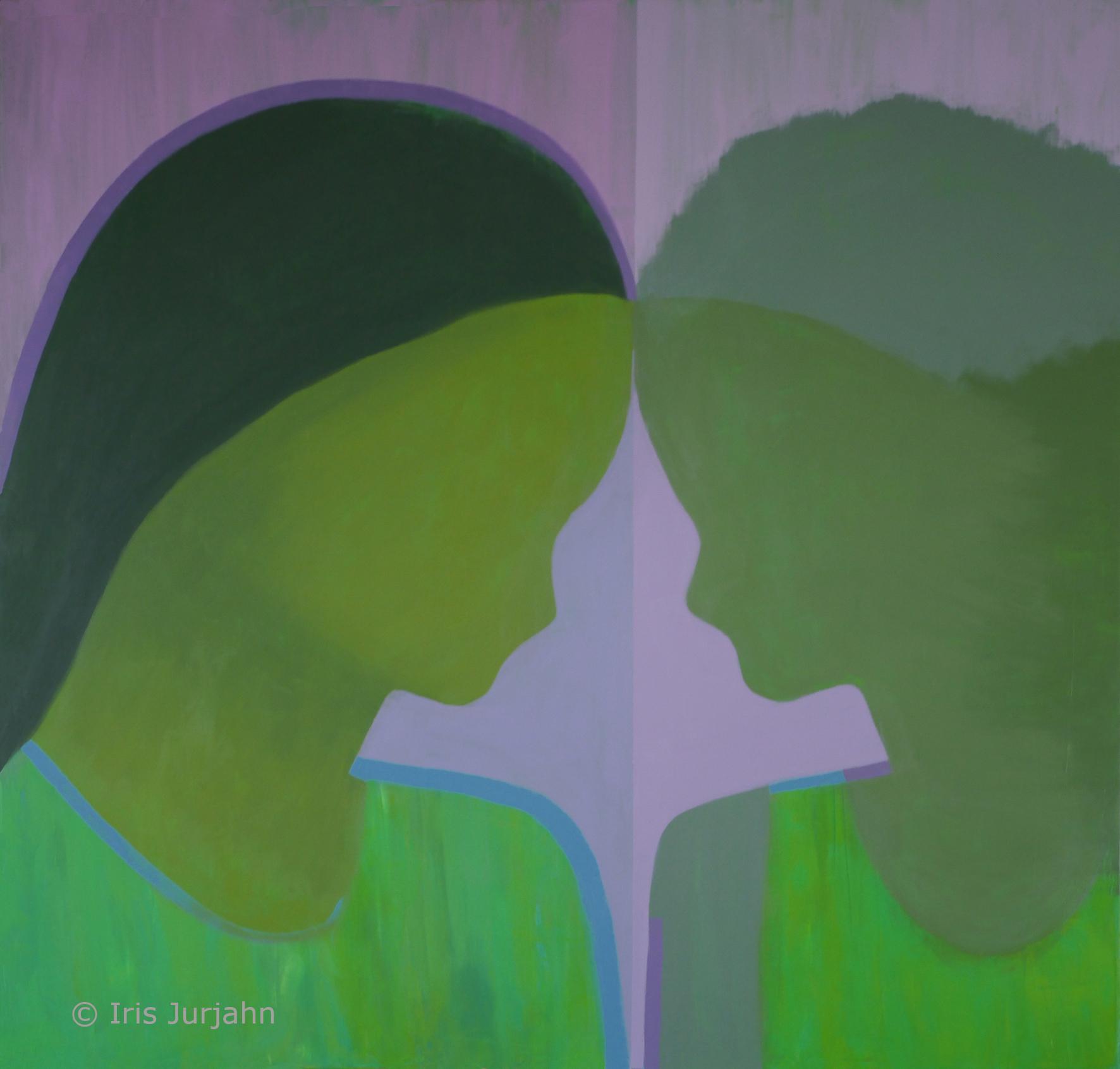 PluralOne, acrylic on canvas, 100 x 100 cm, 2020
