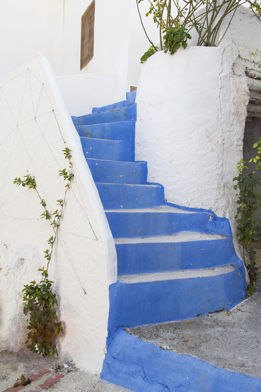 """The Blue Stairs"" - Guajar Alto, Granada - V00032"