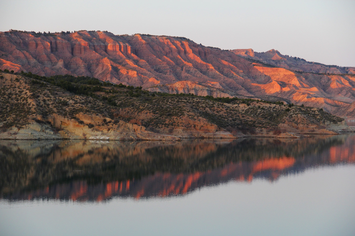 """Evening Reflection"" - Embalse de Negratin, Altiplano, Granada - L02075"
