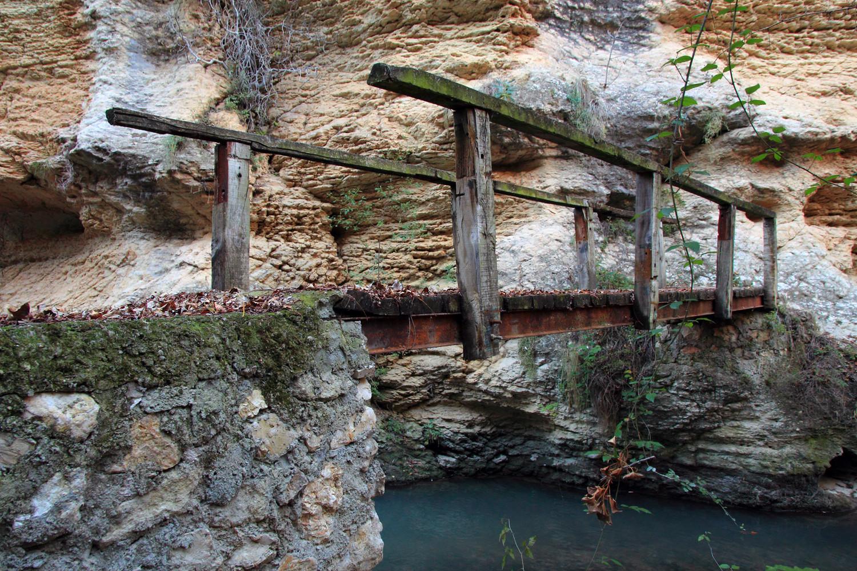"""The Wooden Bridge"" - Rio Cacin, Cacin, Granada - B05192"