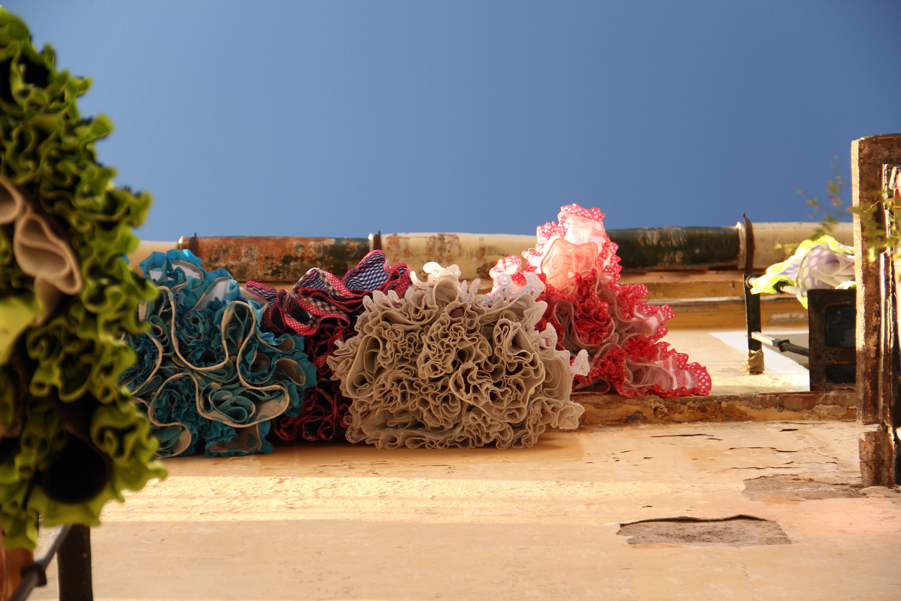 """The Flamenco Dresses"" - Street scene Malaga City - VH05570"