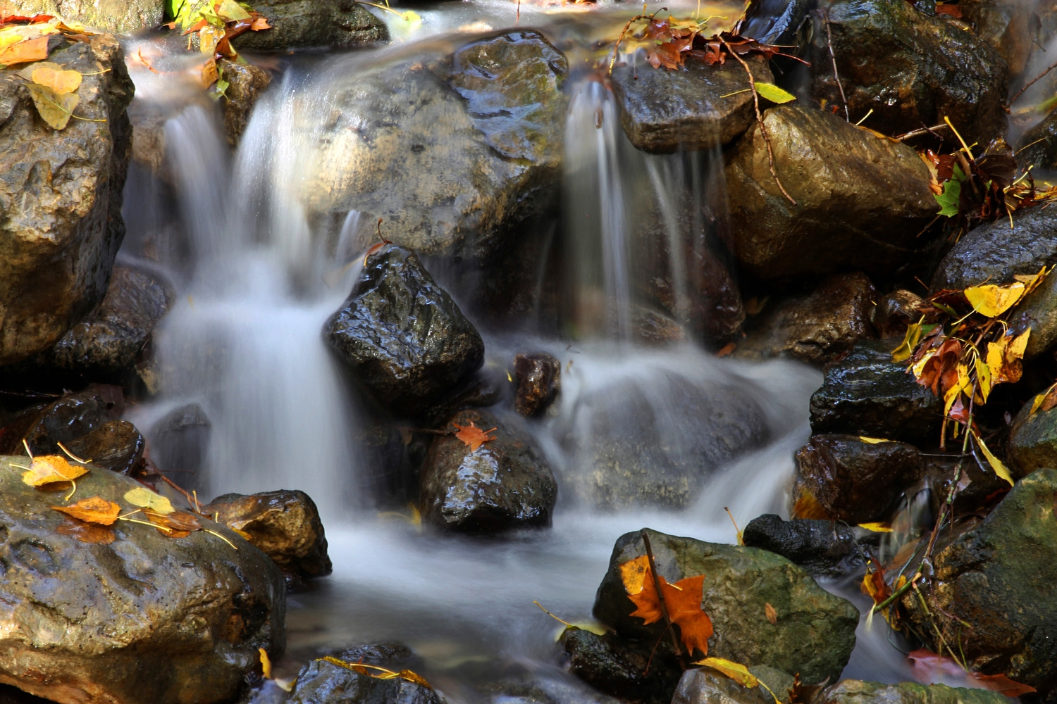 """Autumn Waterfall"" - Alhama de Granada, Granada - WC07849"