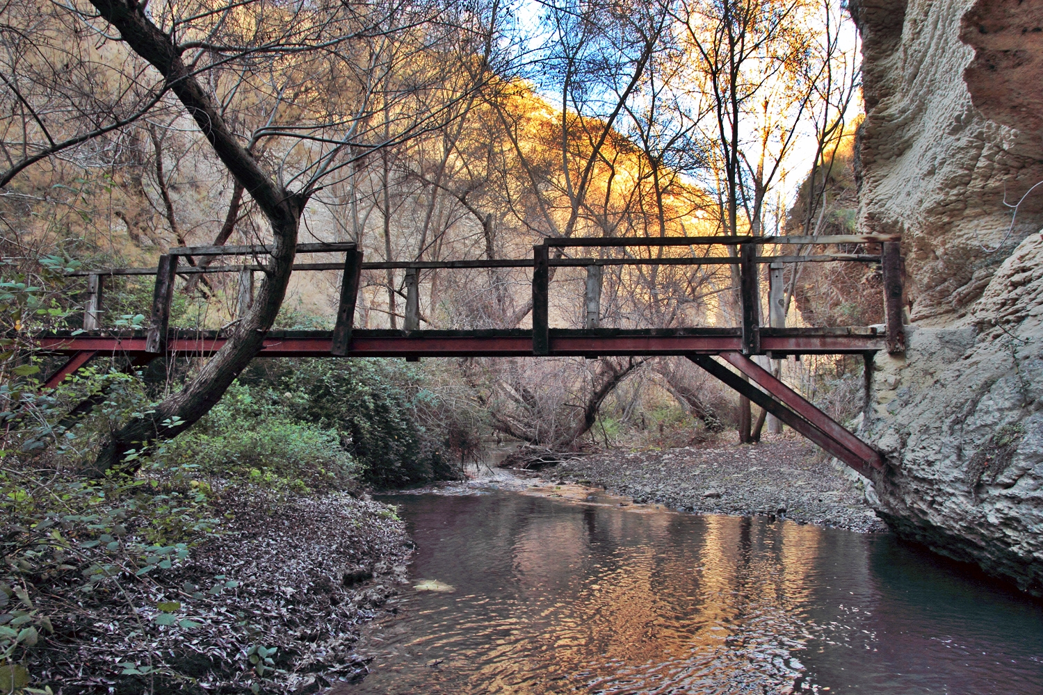 """The Wooden Bridge"" - Rio Cacin, Cacin, Granada - B05207"
