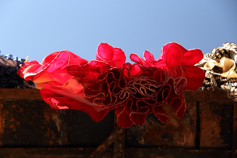 """Red Flamenco Dress"" - Street scene Malaga City - VH05540"