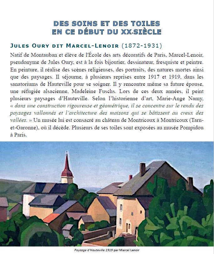 """Illustration du livre """"Regards d'artistes sur le Plateau d'Hauteville-Lompnes"""" avec une photo d'un tableau de Marcel Lenoir prise par Jean-Baptiste Namy (2020)"""