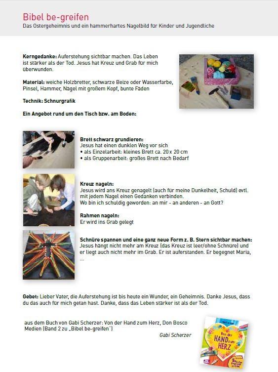 Beitrag im Jahresplaner KiGo 2016, ev. Landesverband für ev. Kindergottesdienstarbeit in Bayern