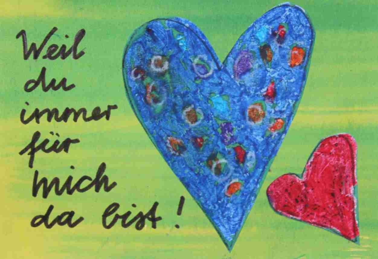 Hab dich lieb Grußkarten, Kinder malen für Kinderschutzbund