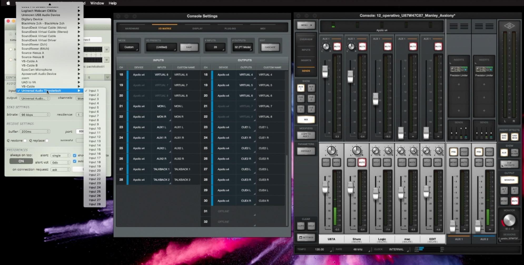 Source Connect e UAD Apollo