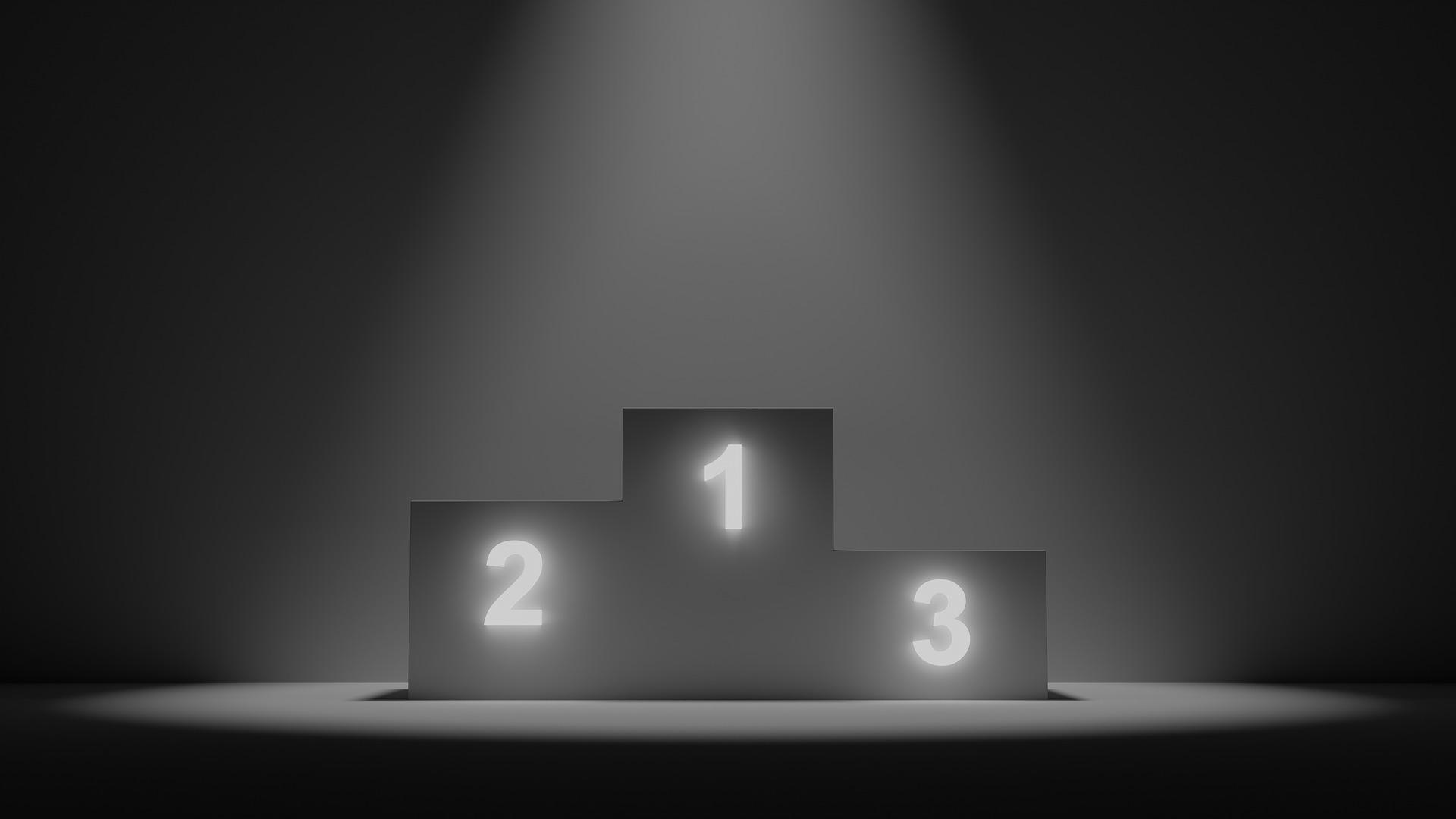 Il podio dei campioni