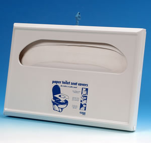 Half fold lockable toilet seat cover dispenser