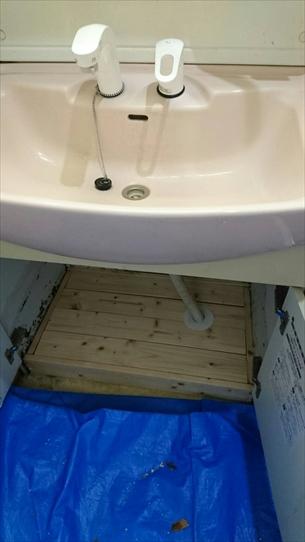 洗面台底リフォーム