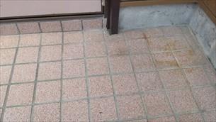 玄関ポーチ滑り解消工事